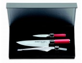 set-3-delni-noži-nož-dick-artikel-8174800-serija-red-spirit-darilna-skatla-darilo-kuhinja-rezanje-8174721-Chef's-knife-21-cm-8174709-Paring-knife-9cm-9015625-Buffet-tongs